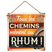 Rum metal plate