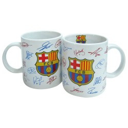 Mug en céramique FC Barcelone Autographes - Tasse