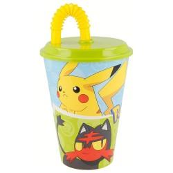 Taza Pokemon con pajita 430 ml