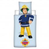 Parure housse de couette Sam le Pompier 140x200 cm avec Taie d'oreiller