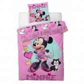 Parure housse de couette Minnie Mouse 140x200 cm et Taie d'oreiller