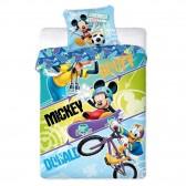 Parure housse de couette Mickey Donald et Goofy 140x200 cm et Taie d'oreiller