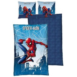 Marvel Spiderman 140x200 cm und Kissen Taie Bettdecke