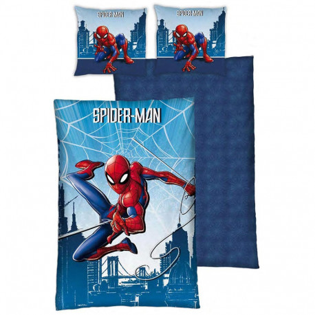 Spiderman 140x200 cm duvet cover and pillow