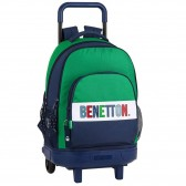 Sac à dos à roulettes Benetton 1965 Vintage 45 CM Trolley Haut de Gamme