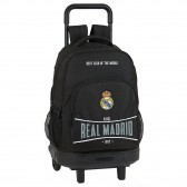 Sac à dos à roulettes real Madrid Total Black 45 CM Trolley Haut de Gamme