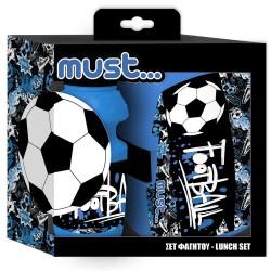 Voetbal -flessendoos