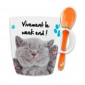 Mug Cuillère Amis Chiens et Chats