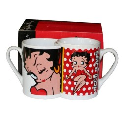 Set 2 Betty Boop Nested Mugs
