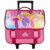 Cartable à roulettes Princesses Disney rose 38 CM