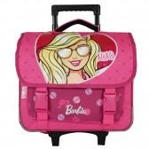 Cartable à roulettes Barbie rose 38 CM