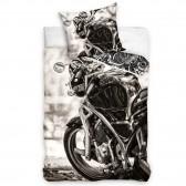 Parure housse de couette Moto 160x200 cm et Taie d'oreiller