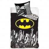 Parure housse de couette coton Batman 140x200 cm et Taie d'oreiller