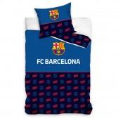 Parure housse de couette coton FC Barcelone 140x200 cm et Taie d'oreiller