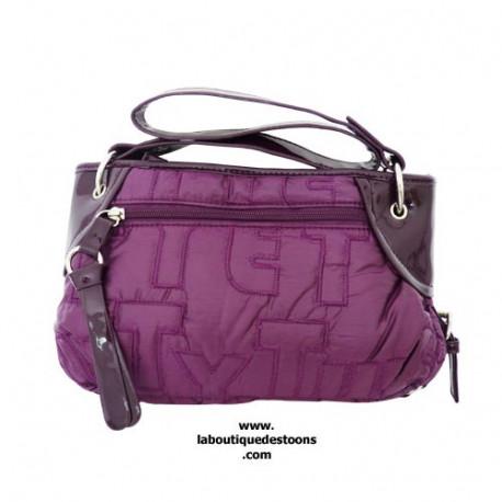Springaffe lila Handtasche