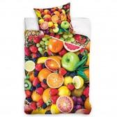 Parure housse de couette Fruits 160x200 cm et Taie d'oreiller