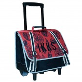 Cartable à roulettes IKKS Urban R Rouge 38 CM
