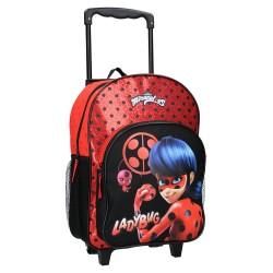 Sac à dos à roulettes Ladybug Miraculous Secret Identity 38 CM Haut de gamme Trolley - Cartable