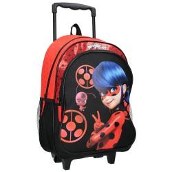 Sac à dos à roulettes Ladybug Miraculous Secret Identity 42 CM Haut de gamme Trolley - Cartable