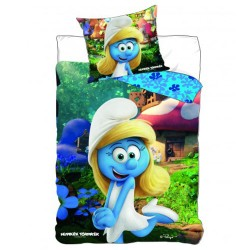 Smurfette duvet cover 140x200 cm and pillow taie