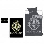 Parure housse de couette Harry Potter phosphorescente 140x200 cm et Taie d'oreiller