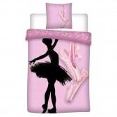 Ballerina Bettdecke 140x200 cm und Kissen Taie
