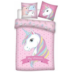 Unicorn duvet cover 140x200 cm and pillow taie