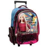 Mochila con ruedas Barbie 43 CM - Trolley escolar