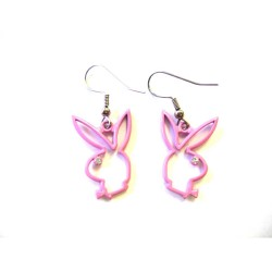 Boucles d'oreilles Playboy Bunny rose