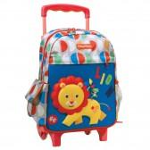 Sac à dos à roulettes Fisher Price Lion maternelle 30 CM