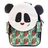 Maternal velvet backpack Les Déglingos 25 CM