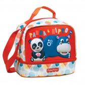 Sac gouter Fisher Price Panda & Hippo 21 CM - sac déjeuner