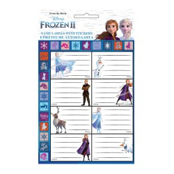 Lot of 16 Labels Snow Queen 2 with stickers