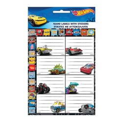 Lot of 16 Hot Wheels labels with Stickers