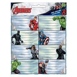 Lote de 16 etiquetas de Avengers