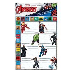 Lote de 8 etiquetas de Avengers