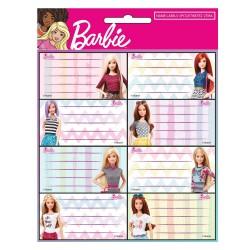 Lot de 16 étiquettes Barbie