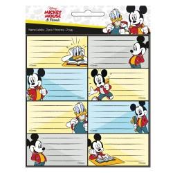 Lot de 16 étiquettes Mickey