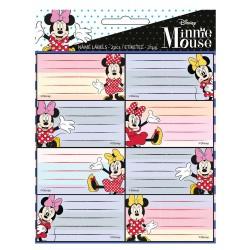Lot de 16 étiquettes Minnie