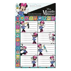 Lote de 16 etiquetas Minnie con pegatinas