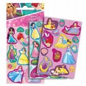 Lot de 42 stickers brillants Princesses Disney