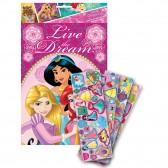 Lote de 14 etiquetas brillantes Disney Princesses