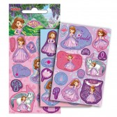 Lot de 36 étiquettes brillantes Princesses Disney