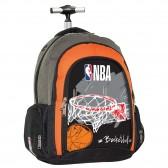 Sac à dos à roulettes NBA Red Basket 48 CM - Cartable