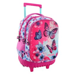 Sac à dos à roulettes Must Papillons 45 CM Trolley Haut de Gamme