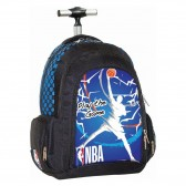NBA Red Basket 48 CM Wheeled Rucksack - Cartable