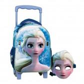 Sac à roulettes maternelle La reine des Neiges avec Masque
