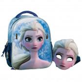 Sac à dos maternelle Elsa avec masque - 30 CM