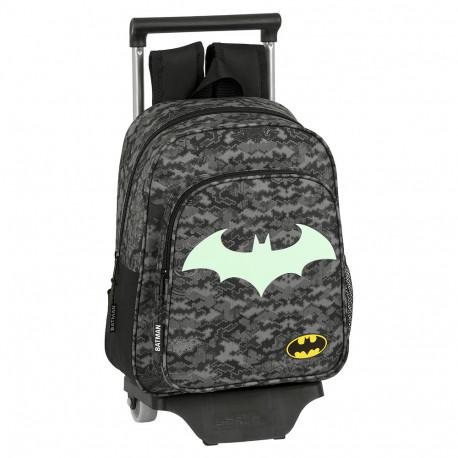 Sac à dos à roulettes Maternelle Batman Night 33 CM Trolley Haut de Gamme