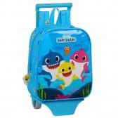 Sac à dos à roulettes Maternelle Baby Shark 28 CM Trolley Haut de Gamme